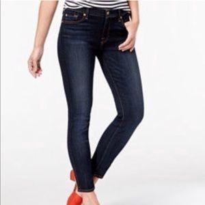 Seven7 Dark Wash Skinny Mid Rise Jeans